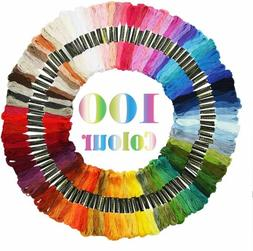 100 colors cross stitch thread embroidery floss