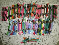 100 SKEINS DFN & J. P. COATS Floss Embroidery Thread  ASSORT