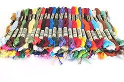 DMC Embroidery Floss Assortment 100 Colors. Genuine Made in