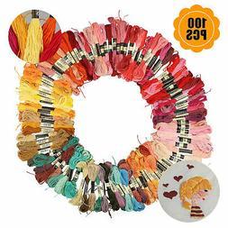 100pcs/set Cross Stitch DIY Cotton Embroidery Thread Floss S