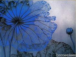 11ct Stamped Cross Stitch kit Blue Lotus Needlework Craft Ki