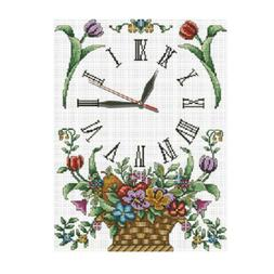 11CT Stamped Cross Stitch Kit With Pre-printed Pattern - Flo