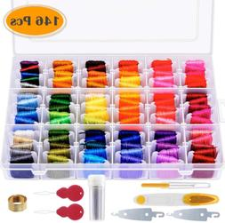 146 Pcs Embroidery Floss with Organization Box Including 108
