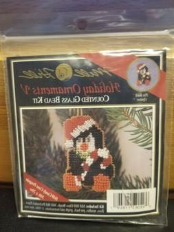 1994 Mill Hill Counted Glass Bead Kit Holiday Ornament V Can