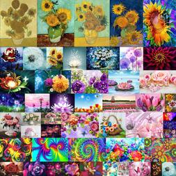 1X Full Drill Flower DIY 5D Diamond Painting Cross Stitch Em