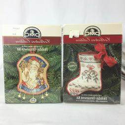 2 DMC Collector's Edition Ornament kits counted cross stitch