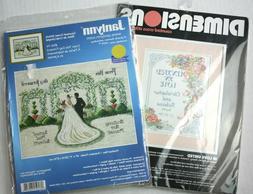 2 Wedding Cross Stitch Kits Janlynn Day Forward Dimensions I