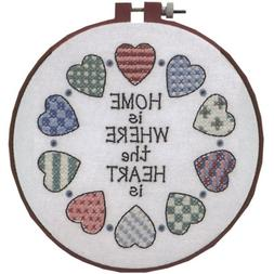 Dimensions 256375 Learn-A-Craft Home And Heart Stamped Cross