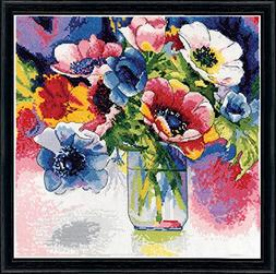 Design Works Crafts 2850 Anemonies Counted Cross Stitch Kit,