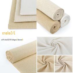 Caydo 3 Pieces 3 Colors Linen Needlework Fabric For Garment