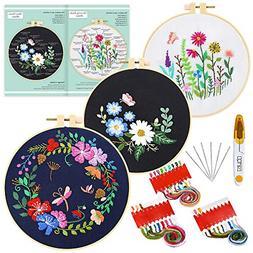 3 Sets Embroidery Starter Kit Pattern Instructions Cross Sti