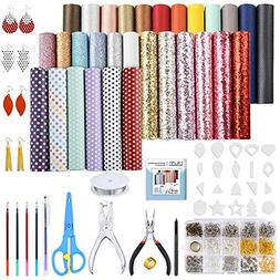 30 PC Leather Earring Making Kit Include Instructions 5 Styl