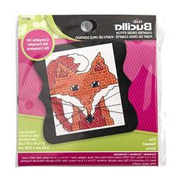 BUCILLA 46151 Fox Counted Cross Stitch Beginner Stitchery Mi