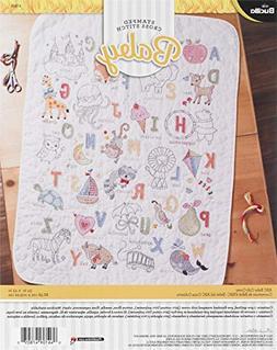Bucilla 47805 ABC Baby Crib Cover, White