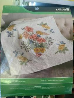Bucilla 49055 Flowers from The Garde Lap Quilt