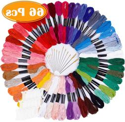 Paxcoo 50 Skeins Embroidery Floss Cross Stitch Supplies Cros