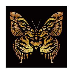 5D Diamond Painting by Number Kit,YOYORI Tiger and Butterfly