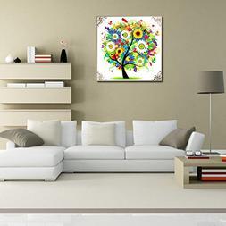 Alloet 5D Four Seasons Tree Dimond Painting Cross-Stitch Hom