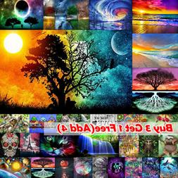 5D Full Drill DIY Diamond Painting Embroidery Manual Cross S
