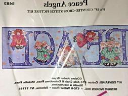 "6"" X 18""  Design Works PEACE ANGELS  Counted cross stitch ki"