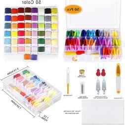 Paxcoo 88 Pcs Cross Stitch Supplies Kits With Organizer Box