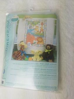 Dimensions - Baby Hugs Mod Zoo Quilt Stamped Cross Stitch Ki