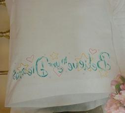 Dimensions Needlecrafts Embroidery, Believe Pillow Cases