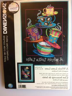 Dimensions A WHOLE LOTTA LATTE Cross Stitch Kit by Barb Tour