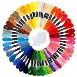 AB_ 50pcs Multi DMC Colors Cross Stitch Cotton Embroidery Th