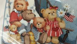 AMERICAN BEAR Needlepoint Kit Dimensions Stitch Sew Yarn Nee
