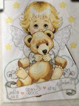 "Tobin Angel Birth Record Counted Cross Stitch Kit, 11"" x 14"""