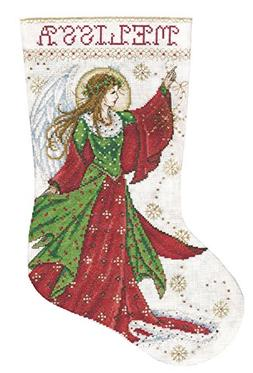 Angel Of Joy Stocking Counted Cross Stitch Kit-17 Long 14 Co