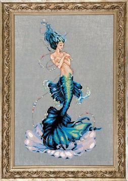 """Aphrodite Mermaid"" Cross Stitch Chart + beads & Kreinik Lin"