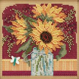 Mill Hill Autumn Series Counted Cross Stitch Kit Sunflower B