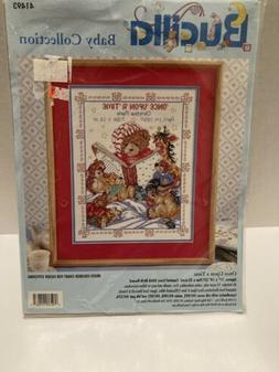 Bucilla Baby Collection Counted Cross Stitch Kit #41493 Once