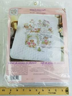Bucilla Baby Crib Cover Fairytale Castle Stamped Cross Stitc