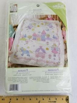 Bucilla Baby Crib Cover PRINCESS Castle Stamped Cross Stitch