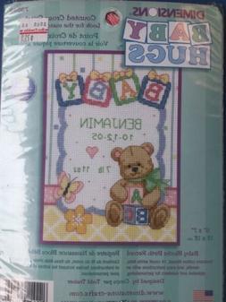 Baby Hugs Baby Blocks Birth Record Counted Cross Stitch Kit
