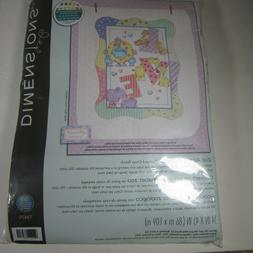 """Dimensions/Baby Hugs Quilt Stamped Cross Stitch Kit 34""""X43""""-"""
