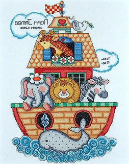 Tobin Baby Noah's Ark Birth Record Counted Cross Stitch Kit,