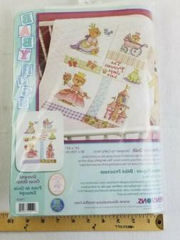 Dimensions BABY PRINCESS QUILT Stamped Cross Stitch Kit baby