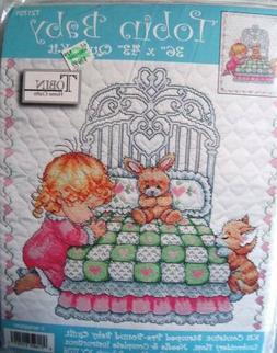 "Tobin Baby Quilt Kits  36"" x 43""  Stamped Cross Stitch  Pre-"
