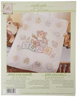 Bucilla Baby Stamped Cross Stitch Crib Cover Kit, 34 by 43-I