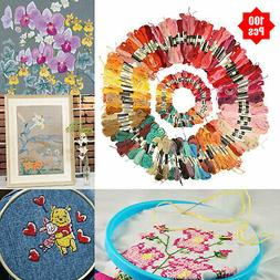100pcs/set DIY Cross Stitch Cotton Embroidery Thread Floss S
