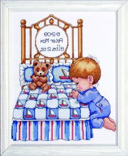 Tobin Bedtime Prayer Boy Birth Record Counted Cross Stitch K