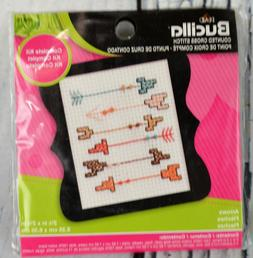 "Bucilla Beginner Minis Counted Cross Stitch Kit Arrow 3"" Com"