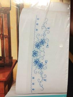 Blue Floral Pillowcase Pair