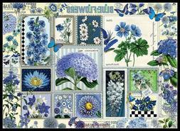 Blue Flowers - Chart Counted Cross Stitch Pattern Needlework