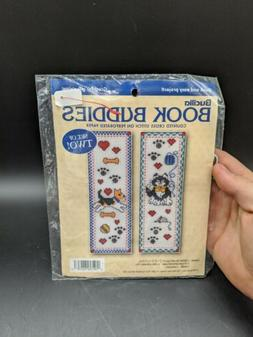 Bucilla Counted Cross Stitch Book Buddies Bookmarks