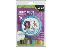 BUCILLA BUCWM46433  XSTITCH KIT MY 1ST STITCH 3 MERMAID
